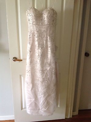 Champagne Size 10 Wedding Dress New With Tags