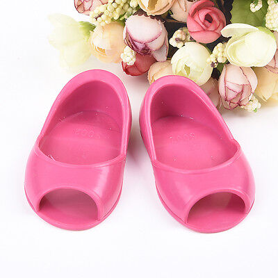 Cute Red Shoes Sandals For 18-inch  Doll Party Clothes Rubber