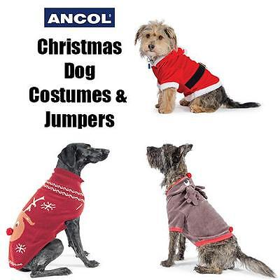 Ancol Christmas Dog Puppy Santa Reindeer Outfit Costume Jumper Cute Xmas Gift