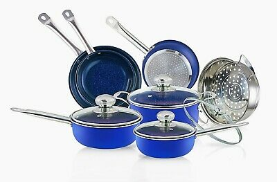 10-Piece Nonstick Copper Frying Pan & Cookware Set Induction Base Extra Piece