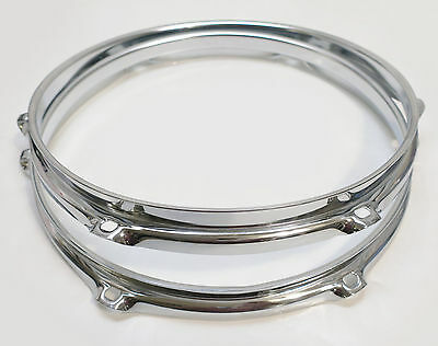 "NEW 10"" HOOPS SET For MODERN or VINTAGE TOM DRUMS,1.6mm, 6-Hole (SONOR Brand)"