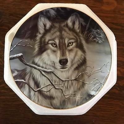 """Franklin Mint Collector Plate - Wolf """"call of the wild"""""""