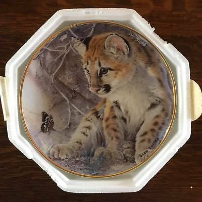 """Franklin Mint Collector Plate - Leopard """"first encounter"""""""