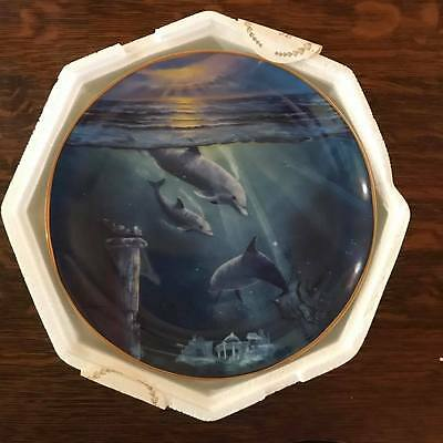 """Franklin Mint Collector Plate - Dolphin """"legend of the dolphin"""""""