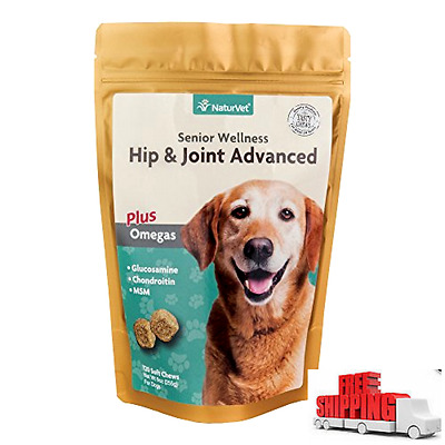senior wellness hip & joint advanced plus omegas for dogs, 120 ct soft chews, !