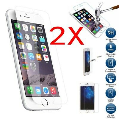 2X Premium Screen Protector Tempered Glass Protective Film Guard iPhone Apple