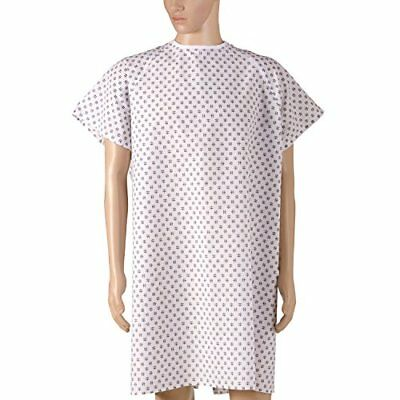 DMI 532-8030-6800 Duro-Med Convalescent Gown with Tape Ties Print