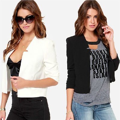Fashion Women Casual Long Sleeve Slim Work Business Suit Coat Jacket Blazer Tops