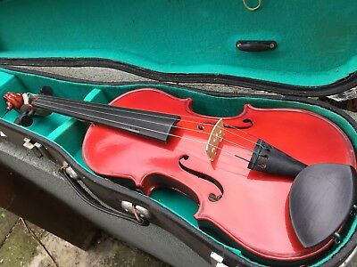 violin 1/2 size Old Brand Lark Child Half Learn With Bow Rosin Spruce Chin Rest