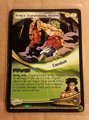 Dragon Ball Z Broly's Overwhelming Attacks Foil Promo Mint DBZ CCG