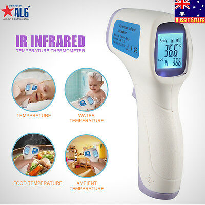 Digital Baby Kid Adult Body Food Non-contact IR Infrared Temperature Thermometer