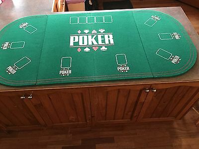 Poker table top - folding for easy storage.