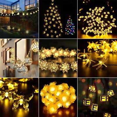 Warm White Solar String Lights 20/30/50LED Dream Wedding Party Decor Fairy Lamp
