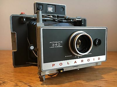 Polaroid 340 Land Camera with AAA battery mod