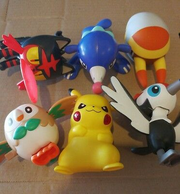 Mcdonalds happy meal toys Pokemon Pikipek Popplio Litten Rowlet Grubbin Pikachu