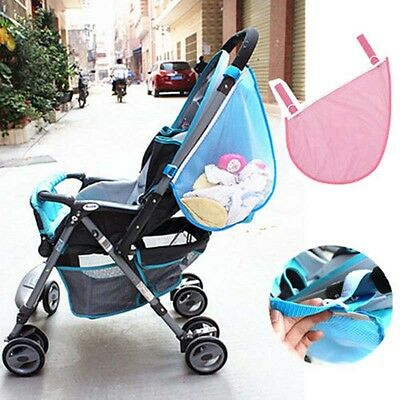Baby Carriage Side Bag Baby Stroller Pushchairs Pram Diaper Net Mesh Storage