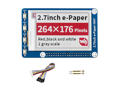 2.7inch E-Ink display module Three-color e-paper SPI interface for Raspberry Pi
