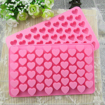 55 Mini Love Hearts Silicone Mould Mold Chocolate Candy Gummy Maker Jelly Tray