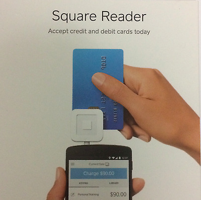 """Square Reader Payment Solution + 4 """"WE ACCEPT CREDIT AND DEBIT"""" LABELS"""