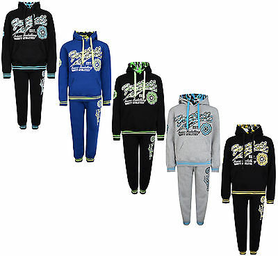 Kids Tracksuit Boys Jog Set Football Hooded Top & Joggers #35 Bnwt