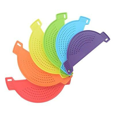 1 Pc Practical Flexible Pan Strainer Water Filter Silicone Pasta Draining Liquid