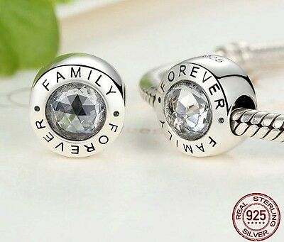 FOREVER FAMILY CHARM 925 GENUNIE STERLING SILVER Family Forever BEAD