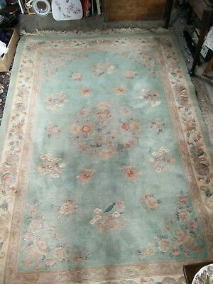 Antique chinese rug vintage interior living room rug