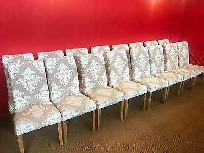 Set 16 Exclusive Hepplewhite style Grand dining chairs, pro French polished