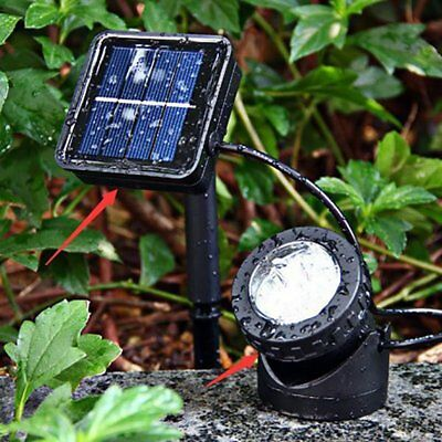 2/4PCS Solar Spotlights 6 LED Underwater Projection Lights Garden Pond Lighting