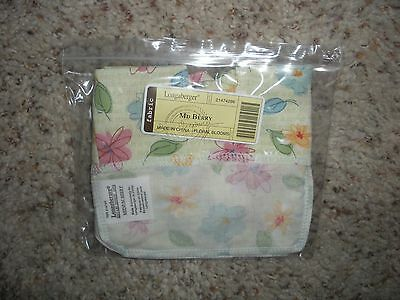 LONGABERGER Floral Blooms OTE Fabric Liner for Med Berry Basket with Handle NIB