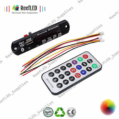 12V Car MP3 WMA Decoder Board Audio Module USB TF FM Radio Remote WIreless UK