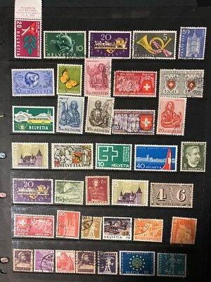 stamps  Switzerland - MNH and Used  - lot 17