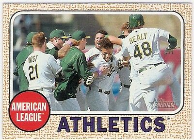 2017 Topps Heritage Oakland Atheletics Check List #149