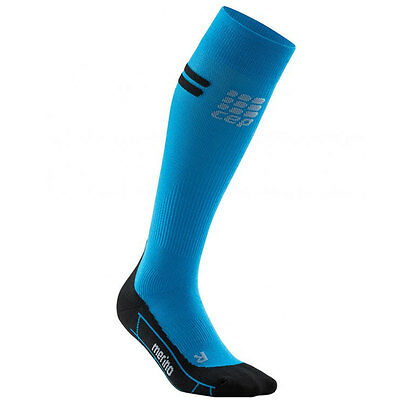 CEP Running Merino Socks Lady electric blue/schwarz | WP40NA Neu!