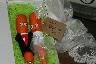 CRAZY, FUNNY Novelty card alternative ~ Wedding Day Personalised Carrot Gift