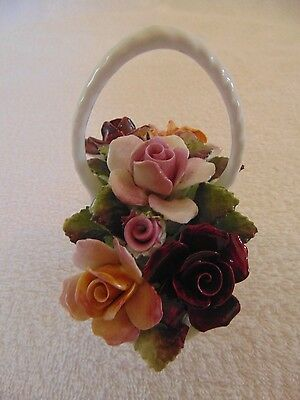 Royal Albert Old Country Roses Flower Posy In A Basket 1St Quality 1962 England