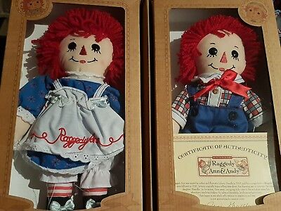 Raggedy Ann & Raggedy Andy Dolls - New, Never Removed From Box