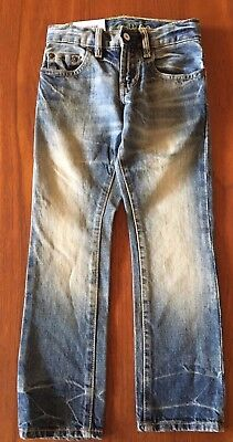 GAP Kids 1969 Brand New Straight Leg Slim Fit Adjustable Waist Unisex Jeans 6