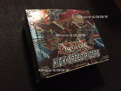 Yu-Gi-Oh Cards - High-Speed Riders Booster Box (24 Packs) - New Sealed - Konima