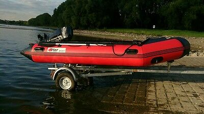 Otter-Sport Motorboot MAS - 380 mit Mercury Force 25PS Motor inkl. Trailer