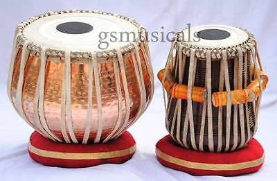 Tabla Drum Set Copper Hammered Bayan Professional Gsm051  Au