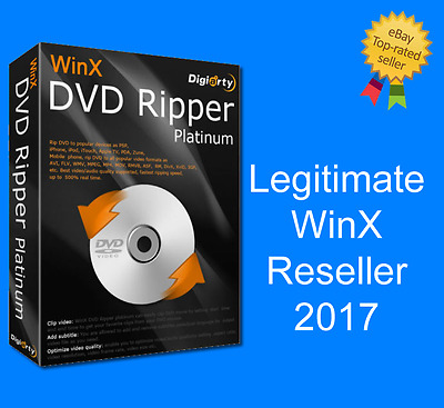 WinX DVD Ripper Platinum 8.5.0 2017 (DIGITAL DELIVERY ONLY!)