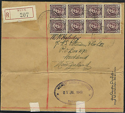 PAPUA NEW GUINEA- MONEY ORDER OFFICE Rabaul-R-Cover BUIN 12.07.1949- 237