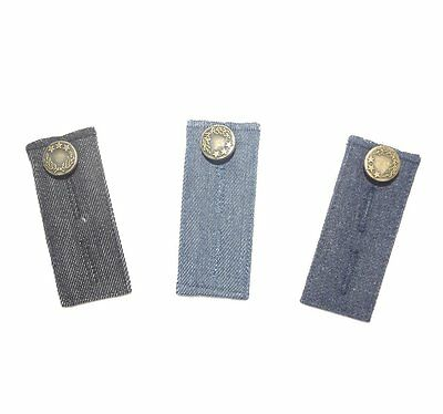 Janext Denim Waist Extender with Metal Button for Jeans Men and Women,Set of 3