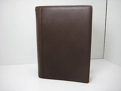 COACH Brown Leather 2-Ring Binder Agenda Journal Planner Cover