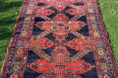 Antique Caucasian Karabagh Rug with Seichour style border and St Andrews Cross