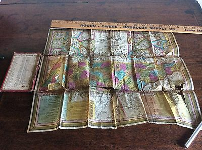 Antique 1834 Bound Foldout Color Mitchell 's Map of Tennessee Needs Restoration