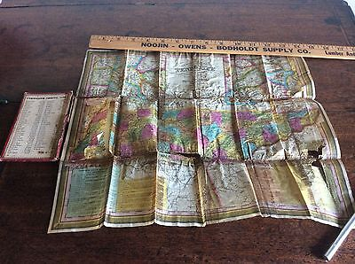 Antique 1834 Bound Foldout Color Mitchell's Map of Tennessee Needs Restoration