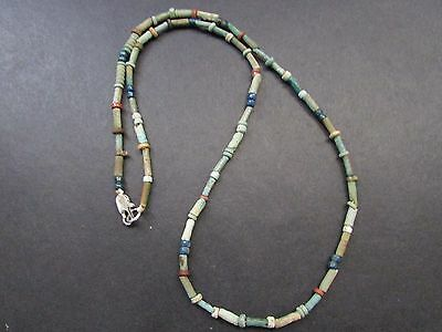 NILE  Ancient Egyptian Faience Mummy Bead Necklace ca 600 BC