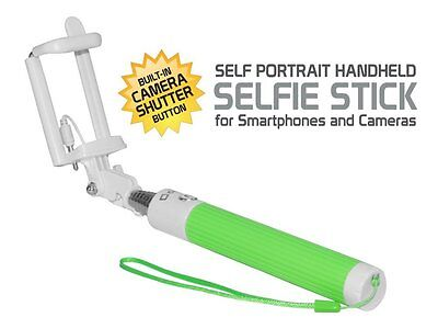 T-Mobile REVVL Compact Green Aux Cable Selfie Stick – No Charging Needed